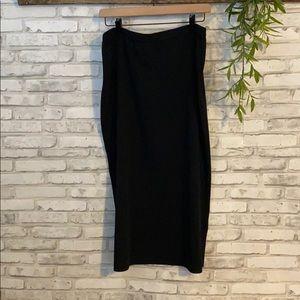 Ming Wang Black Midi Skirt size L